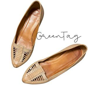 Givenchy Pointed Toe Strappy Nude Flats